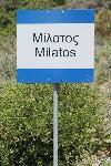Ortseingangsschild von Milatos