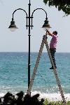 Im Gegensatz zu vielen anderen Gemeinden in Griechenland, werden hier die öffentlichen Anlagen gepflegt.
